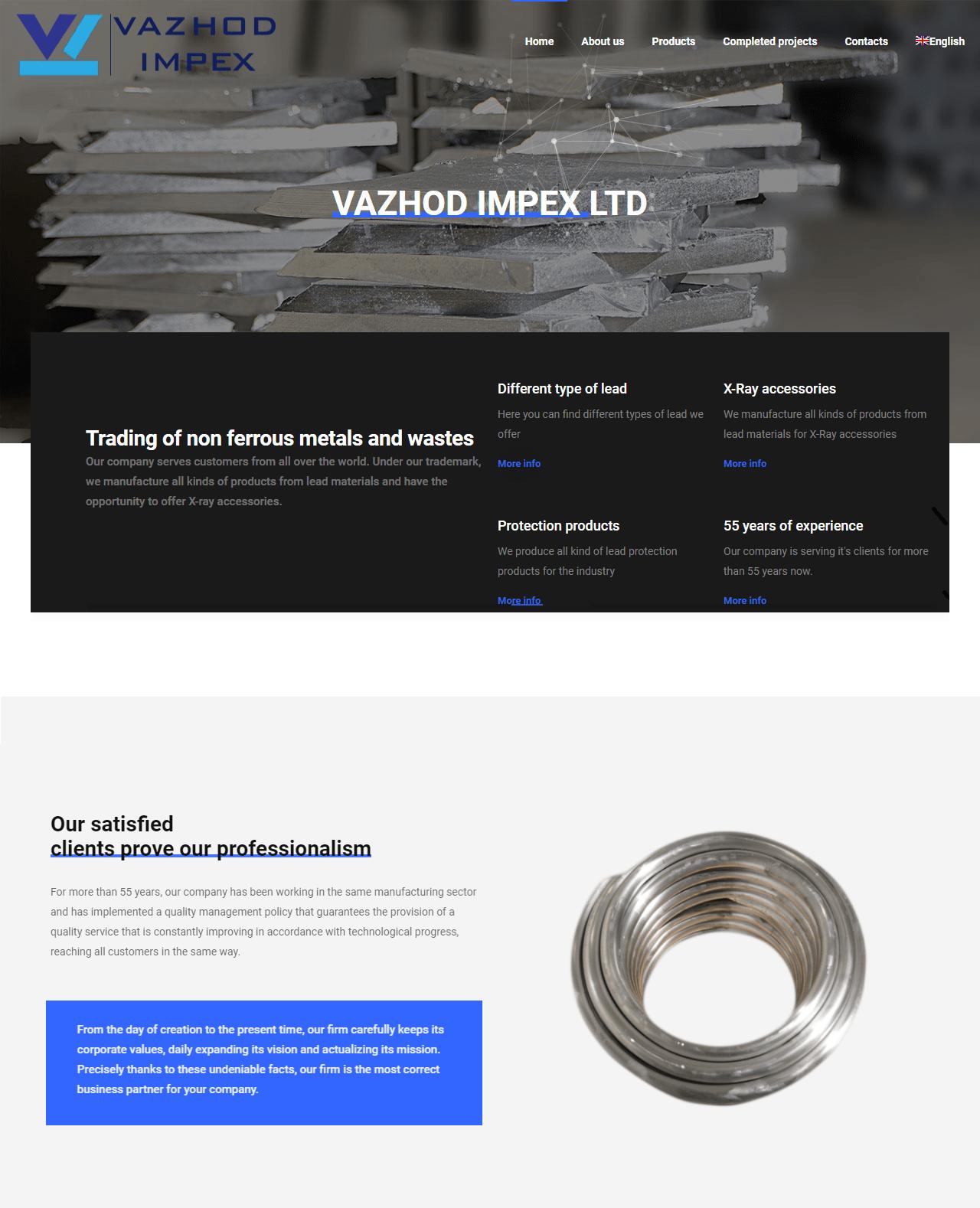 Vazhodimpex.com - Оловни материали и продукти