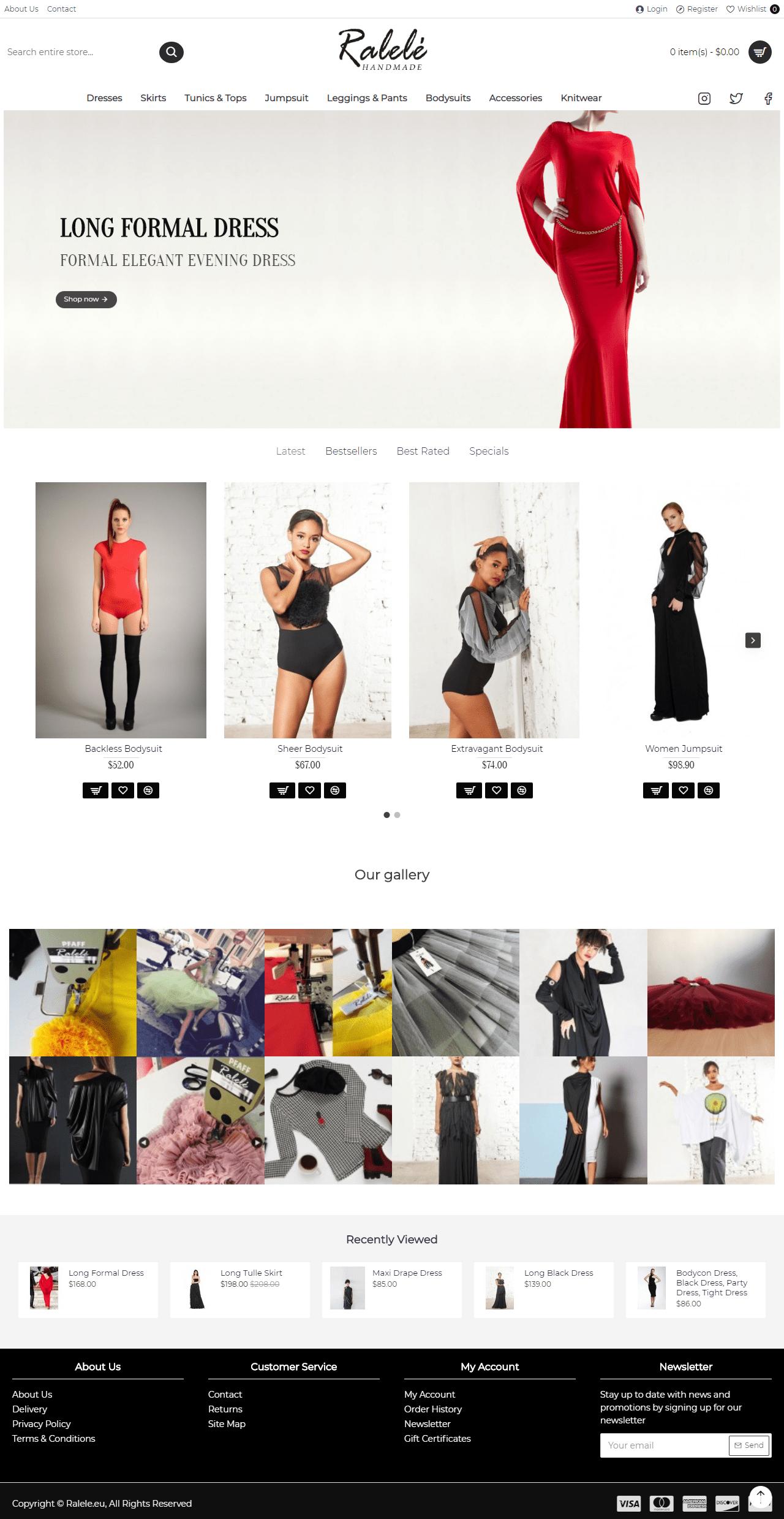 Ralele - Онлайн бутик за дрехи и магазин за рокли и дрехи по поръчка