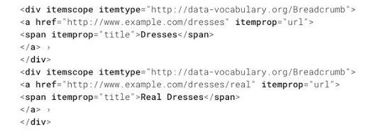 Пример за маркиране с data vocabulary