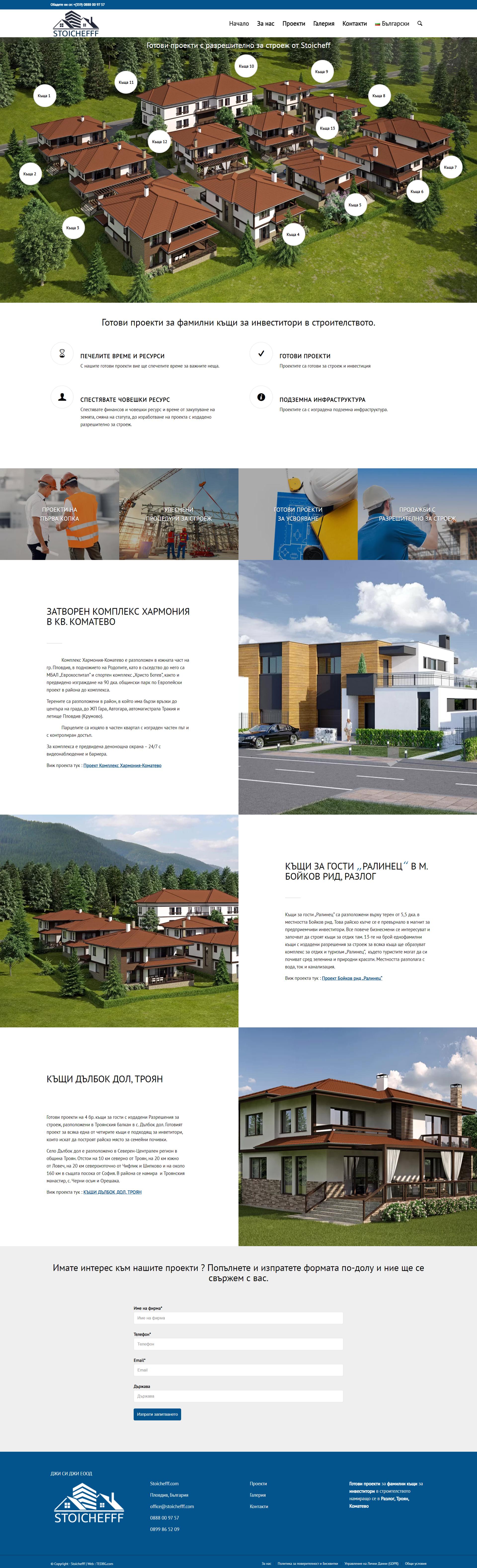 Stoichefff - Готови проекти с разрешително за строеж